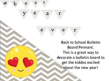 # best year ever bulletin board header decoration for back to school - mindset