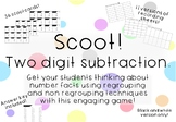 Two Digit Subtraction Scoot Game Task Cards