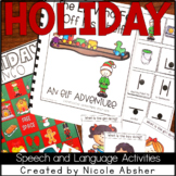 Christmas/Holiday Speech and Language Activities for Speech Therapy
