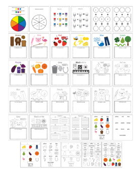 (blending and mixing) colors worksheets