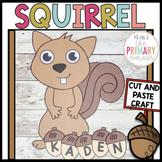 Squirrel craft   Name craft   Fall craft