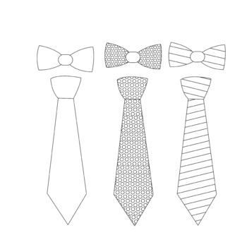 (bow)tie clip art Father's day