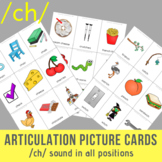 /ch/ Sound Articulation Picture Cards - CH Sound In All Positions