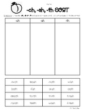 -ch, -sh and -th Ending Sounds Sorting Worksheet / Digraphs