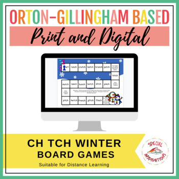 ch or tch Winter Board Game, Sort, and 2 Rule Posters (Orton-Gillingham)