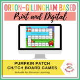 -ch/-tch phonics game board game and sorts (pumpkin patch themed)