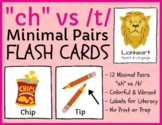 """""""ch"""" vs /t/ - minimal pairs - teletherapy & distance learning"""