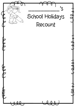 Holiday Recount Template Teaching Resources | Teachers Pay Teachers