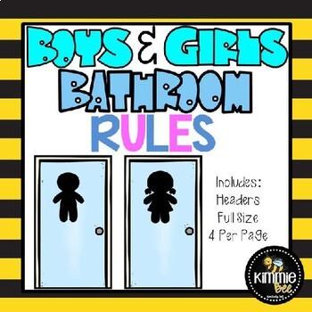 School Bathroom Rules school bathroom/restroom rules posterskimmie bee | tpt