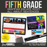 Sentences Escape Room Printable & Digital Activity 5th Grade