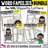Word Work MEGA Bundle - 25 Word Families -- Magnetic Lette