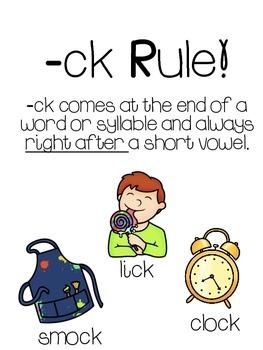- ck Spelling Rule Poster