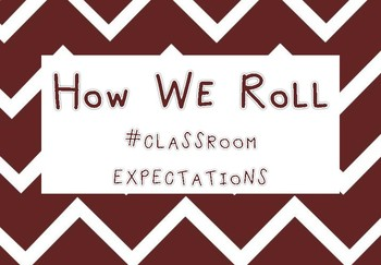 Rules Posters- # Classroom Expectations  - Back to School