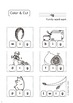 """[color, cut and glue]printable worksheets for """"-ig word family"""""""