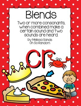 -cr Blend Anchor Chart & Practice {Click File, Print}
