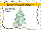 {crafty} spell*o*tivity Christmas Tree 1st grade and HOMES