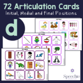 /d/ Articulation Flashcards - Initial, Medial and Final