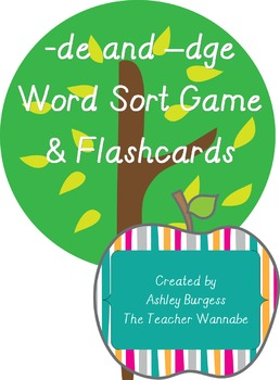 -de and -dge Word Sort