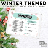 No Print Interactive Winter Themed Pragmatic Problem Solving