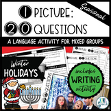 1 Picture 20 Questions {Winter Holidays} - An Activity for Mixed Language Groups