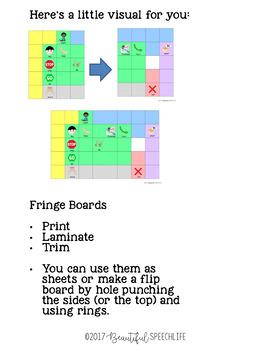 #dec2017slpmusthave Medium Core Vocabulary Board
