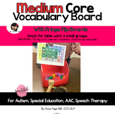 Medium Core Vocabulary Board Low Tech AAC for Special Ed & Autism