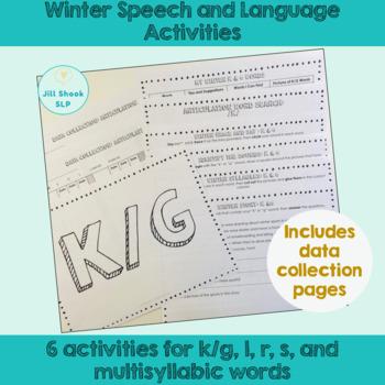Winter Speech and Language Bundle