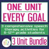 Every Goal Speech Therapy Unit--3 Unit Bundle