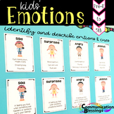 Feelings and Emotions Posters with Definitions and Body Language Cues