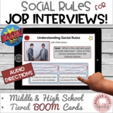 #distancelearning BOOM Cards Autism Social Rules Job Interview