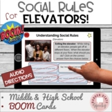 #distancelearning BOOM Cards Social Rules Elevators