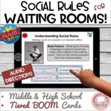 #distancelearning BOOM Cards Social Rules Waiting Rooms Me