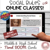 #distancelearning BOOM Cards Social Rules for Autism TBI Online Learning