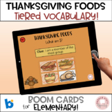 #distancelearning BOOM Cards:  Thanksgiving Foods Vocabulary