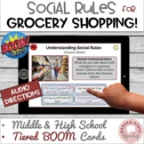 #distancelearning BOOM Cards for Autism TBI Grocery Shopping