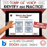 #distancelearning Boom Cards:  Tone of Voice Identify and