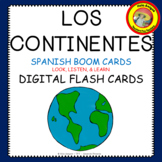 Distance Learning Spanish - Los Continentes- BOOM CARDS™ & QUIZ
