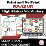 #distancelearning Power UP Vocabulary Test-taking and Assi