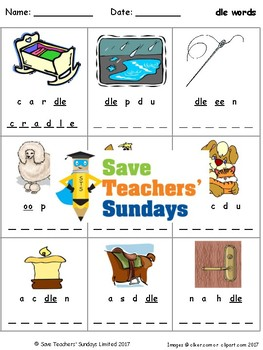 -dle words lesson plan, worksheets and other teaching resources