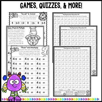 Multiplication Worksheets & Games- Practice For Facts of 4
