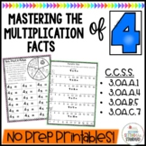 Multiplication Activities & Games | Multiplication Facts Practice 4 Times Table