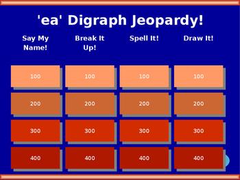 ea Vowel Digraph Jeopardy!