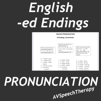 Pronunciation ED Endings:How to Pronounce