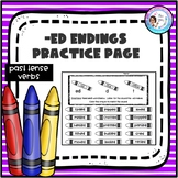 -ed Endings Practice Page (t,d,ed)