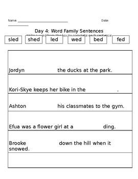-ed Family Activities