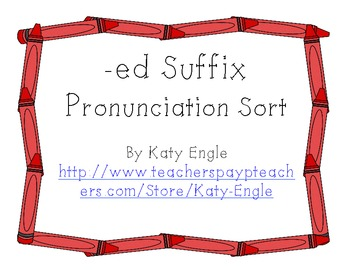-ed Suffix Sort by Pronunciation
