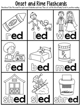 ed Word Family Worksheets by Red Headed Teacher | TpT