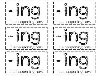 -ed and -ing Endings Interactive Notebook