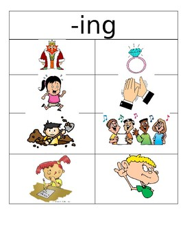 -ed and -ing picture sort