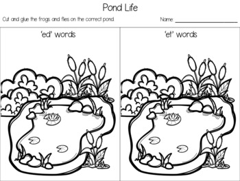 'ed-en' Short Vowel Word Sort Freebie